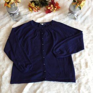 Boden Purple Wool Cardigan Sweater Sz 14